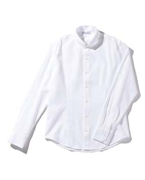 【MEN'S】マオカラー長袖シャツ