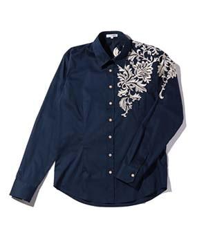 【MEN'S】刺繍長袖シャツ