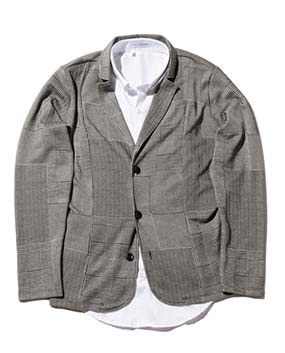 【MEN'S】ミックスチェックテーラードジャケット