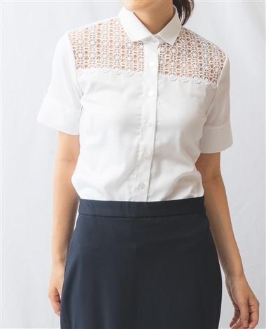 ヨークレースオックス半袖シャツ