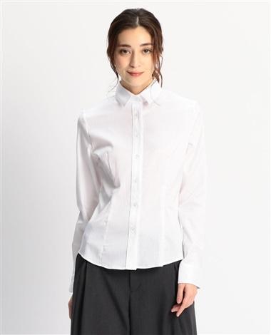 ジャガードストレッチ長袖シャツ