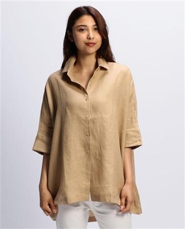 イタリアン麻ドルマンチュニックシャツ