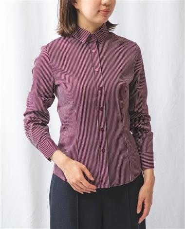 イタリアンストライプベーシックカラー長袖シャツ