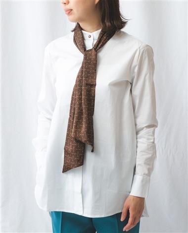 ビット柄タイ付3WAY長袖シャツ
