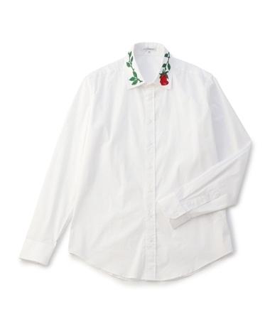 ローズカラー長袖シャツ