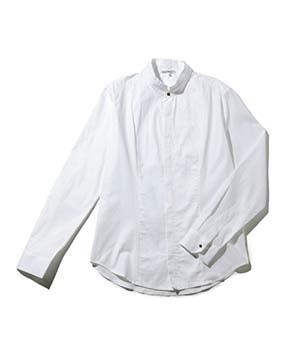 【MEN'S】ピンタック使いマオカラー長袖シャツ