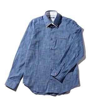 【MEN'S】2枚襟長袖シャツ