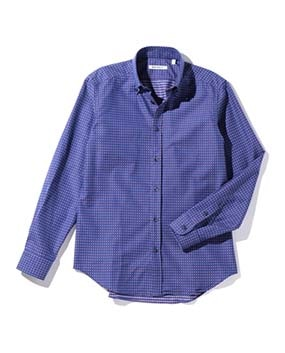 【MEN'S】マルチカラー柄織長袖シャツ