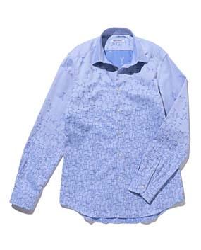 【MEN'S】ジャカード織柄長袖シャツ