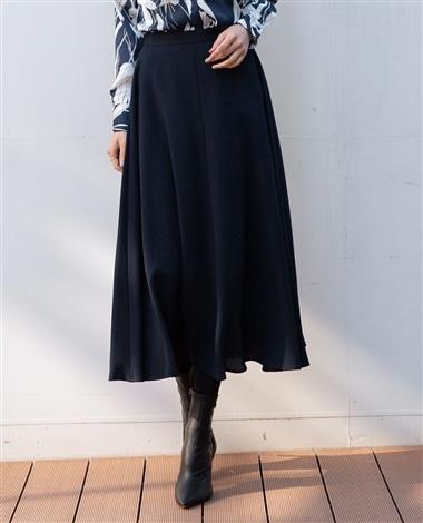 ジョーゼットマキシ丈フレアースカート