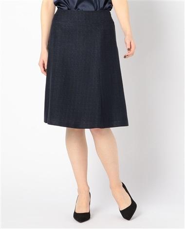 《セットアップスーツ対応》ツィードフレアースカート