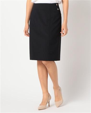 《セットアップスーツ対応》エラシックマイヤータイトスカート