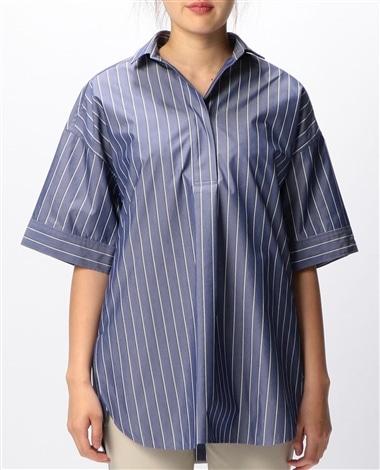 ビックチュニックプルオーバー半袖シャツ