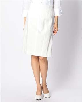 麻ストレッチタイトスカート