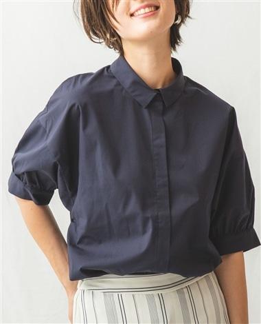 袖コンシャス半袖シャツ