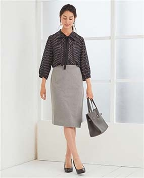 《セットアップスーツ対応》ブライトモクロディタイトスカート