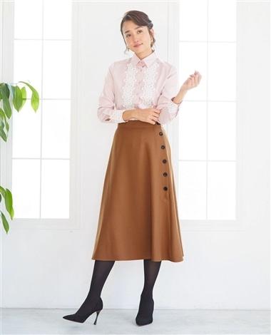 カルゼ調Aラインスカート