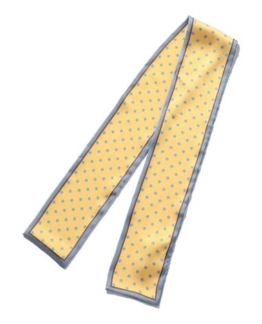 ドット柄細スカーフ